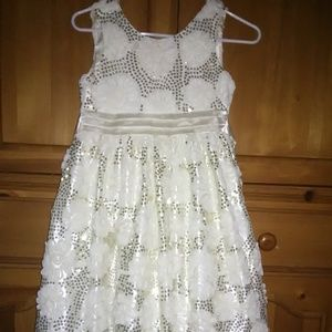 White flower sequin dress